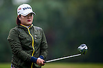 Hye-Jung Choi of Korea looks at her line during the Hyundai China Ladies Open 2014 on December 12 2014 at Mission Hills Shenzhen, in Shenzhen, China. Photo by Xaume Olleros / Power Sport Images