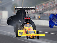 Sep 27, 2020; Gainesville, Florida, USA; NHRA top fuel driver Shawn Langdon during the Gatornationals at Gainesville Raceway. Mandatory Credit: Mark J. Rebilas-USA TODAY Sports