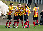 Partick Thistle v St Johnstone.....14.03.15<br /> Kris Doolan celebrates his goal<br /> Picture by Graeme Hart.<br /> Copyright Perthshire Picture Agency<br /> Tel: 01738 623350  Mobile: 07990 594431