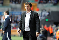 Pictured: Billy Davies manager of Nottingham Forest<br /> Swansea City FC (white) V Nottingham Forest (red) Championship play off semi final, second leg. Liberty Stadium Swansea 16/05/11<br /> Picture by: Ben Wyeth  / Athena Picture Agency<br /> info@athena-pictures.com