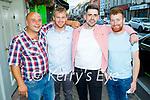 Enjoying the evening in Killarney on Saturday, l to r: Brian Coughlan, Daniel O'Keeffe (Fossa), Padraig French (Killarney) and Joe Coughlan.