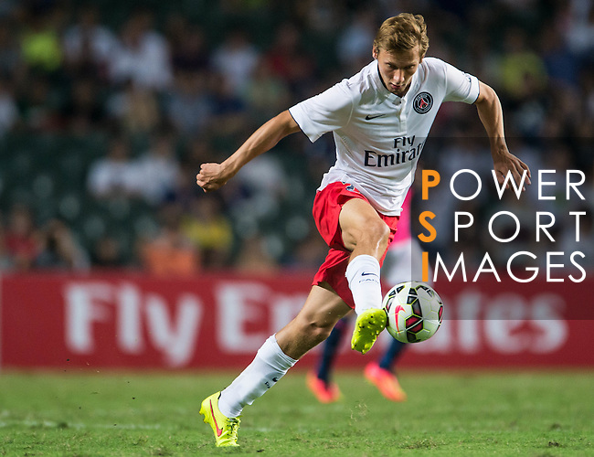Clement Chantome of Paris Saint-Germain in action during Kitchee SC vs Paris Saint-Germain during the The Meeting of Champions on July 29, 2014 at the Hong Kong stadium in Hong Kong, China.  Photo by Aitor Alcalde / Power Sport Images