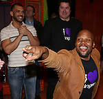 Dennis Stowe, Merwin Foard and Michael James Scott attend the Broadway Opening Night Performance AEA Gypsy Robe Ceremony honoring Dennis Stowe for 'Aladdin' at the New Amsterdam Theatre on March 20, 2014 in New York City.
