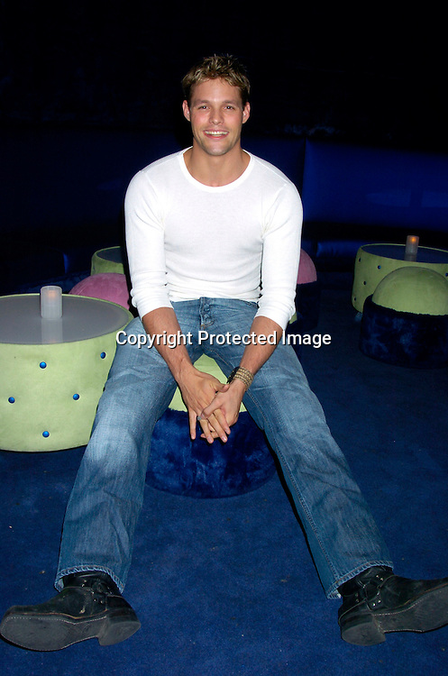 Justin Bruening ..at Marcia Tovsky's Pre Emmy party at Quo on May 19, 2004. ..Photo by Robin Platzer, Twin Images