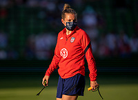 AUSTIN, TX - JUNE 16: Ellie Maybury of the USWNT warms up the team before a game between Nigeria and USWNT at Q2 Stadium on June 16, 2021 in Austin, Texas.