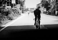 Jasper Stuyven (BEL/Trek-Segafredo) riding under a bridge during the morning recon/trainingride on the iTT course towards Milano<br /> <br /> stage 21: Monza - Milano (29km)<br /> 100th Giro d'Italia 2017
