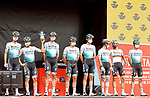 Bora-Hansgrohe best team after yesterday's stage at sign on before the start of Stage 9 of La Vuelta d'Espana 2021, running 188km from Puerto Lumbreras to Alto de Velefique, Spain. 22nd August 2021.     <br /> Picture: Luis Angel Gomez/Photogomezsport   Cyclefile<br /> <br /> All photos usage must carry mandatory copyright credit (© Cyclefile   Luis Angel Gomez/Photogomezsport)