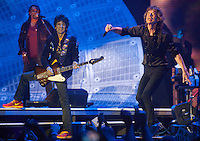 The Rolling Stones are seen at a sold out concert in Macau, China, 09 March 2014. The show, which forms part of the '14 On Fire' tour, claims to be the biggest rock gig the small ex-Portuguese enclave in southern China has ever seen, with VIP packages to see the rock gods retailing online for around 14,800 Hong Kong dollars (Euro 1,375.00). The last time The Rolling Stones visited southern China was just over a decade ago for two sold out concerts in Hong Kong in 2003. The Rolling Stones '14 On Fire' tour will visit Abu Dhabi, Japan, Macau, Shanghai, Singapore, Australia and New Zealand.