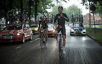 rain jacket time for Lars Bak (DEN/Lotto-Soudal)<br /> <br /> stage 5: Eindhoven - Boxtel (183km)<br /> 29th Ster ZLM Tour 2015