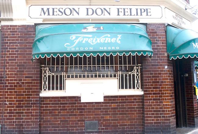 Exterior, Mason Don Felipe Restaurant, London, England