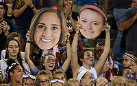 Cincinnati, OH - Tuesday September 19, 2017: Morgan Brian, Rose Lavelle during an International friendly match between the women's National teams of the United States (USA) and New Zealand (NZL) at Nippert Stadium.