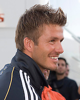 Real Madrid midfielder David Beckham during the Real Madrid Practice Session held at Rice Eccles Stadium in Salt Lake City, Utah on August 8, 2006
