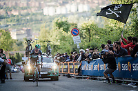 Jay McCarthy (AUS/BORA-hansgrohe) up the San Luca climb<br /> <br /> Stage 1 (ITT): Bologna to Bologna/San Luca (8.2km)<br /> 102nd Giro d'Italia 2019<br /> <br /> ©kramon