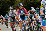 Nicolas Roche (IRL) Team Sunweb, Jerome Cousin (FRA) Total Direct Energie and Nans Peters (FRA) AG2R La Mondiale climb Col de Marie Blanque during Stage 9 of Tour de France 2020, running 153km from Pau to Laruns, France. 6th September 2020. <br /> Picture: Colin Flockton   Cyclefile<br /> All photos usage must carry mandatory copyright credit (© Cyclefile   Colin Flockton)