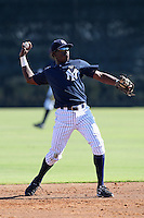 New York Yankees minor league infielder Anderson Feliz (24) vs. the Pittsburgh Pirates in an Instructional League game at the New York Yankees Minor League Complex in Tampa, Florida;  October 8, 2010.  Photo By Mike Janes/Four Seam Images