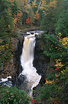 Moxie Falls in the Autumn, Moxie Gore, Somerset County, Maine, USA
