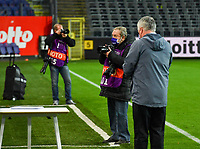 Belgian photographer Louis Evrard pictured during a female soccer game between RSC Anderlecht Dames and Northern Irish Linfield Ladies  in the first qualifying round for the Uefa Womens Champions League of the 2020 - 2021 season , Wednesday 4 th of November 2020  in ANDERLECHT , Belgium . PHOTO SPORTPIX.BE | SPP | DAVID CATRY