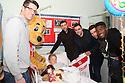 Chris Day, Jon Ashton, Peter Hartley, Steve Arnold and Oumare Tounkara <br /> Stevenage FC players visit Lister Hospital Children's ward.  <br />  - Lister Hospital, Stevenage - 18th December, 2013<br />  © Kevin Coleman 2013