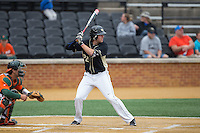 Will Craig (22) of the Wake Forest Demon Deacons at bat against the Miami Hurricanes at Wake Forest Baseball Park on March 22, 2015 in Winston-Salem, North Carolina.  The Demon Deacons defeated the Hurricanes 10-4.  (Brian Westerholt/Four Seam Images)