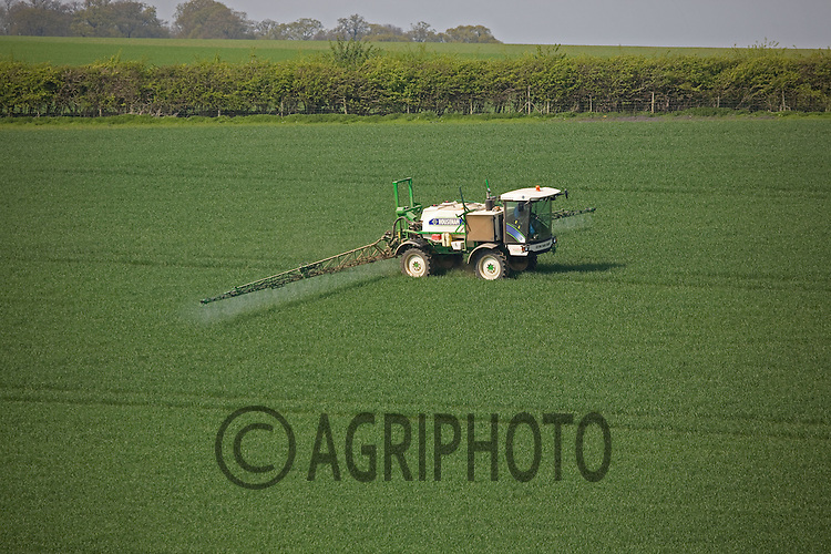 Sprayer In Winter Wheat