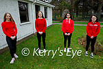The students of the Presentation Secondary School in Tralee ready to do their 5k fundraiser walk for the Irish Heart Foundation at the school on Friday, l to r: Grace McLoughlin, Alice O'Connor, Miriam Goubran and Amy McCarthy.