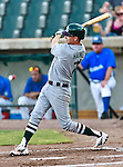 Gary Southshore Railcats Infielder Kyle Haines (7) in action during the American Association of Independant Professional Baseball game between the Gary Southshore Railcats and the Fort Worth Cats at the historic LaGrave Baseball Field in Fort Worth, Tx. Gary Southshore defeats Fort Worth 7 to 3.
