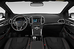 Stock photo of straight dashboard view of a 2019 Ford Edge ST Line 5 Door SUV