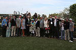 April 11, 2015: Winners circle after the Arkansas Derby at Oaklawn Park in Hot Springs, AR. Justin Manning/ESW/CSM