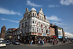 West Ham United 2 Crystal Palace 2, 02/04/2016. Boleyn Ground, Premier League. The Boleyn pub, a regular gathering place for home fans visiting the Boleyn Ground, pictured before West Ham United hosted Crystal Palace in a Barclays Premier League match. The Boleyn Ground at Upton Park was the club's home ground from 1904 until the end of the 2015-16 season when they moved into the Olympic Stadium, built for the 2012 London games, at nearby Stratford. The match ended in a 2-2 draw, watched by a near-capacity crowd of 34,857. Photo by Colin McPherson.