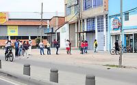 BOGOTA - COLOMBIA, 25-03-2020: Aspecto de las calles en Bogota durante el primer día de la cuarentena total en el territorio colombiano causada por la pandemia  del Coronavirus, COVID-19 / Aspect of the streets in Bogota during the first day of quarantine total quarantine in Colombian territory caused by the Coronavirus pandemic, COVID-19. Photo: VizzorImage / Cont