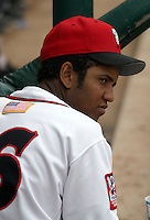 August 31, 2003:  Jose Reyes of the Lansing Lugnuts, Class-A affiliate of the Chicago Cubs, during a Midwest League game at Oldsmobile Park in Lansing, MI.  Photo by:  Mike Janes/Four Seam Images