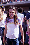 The Eagles 1978 Timothy B. Schmit at Eagles vs Rolling Stone Mag softball game<br /> © Chris Walter