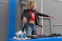 Orlando, FL - Wednesday March 07, 2018: DJ at the U.S. Soccer Festivities during the She Believes Final Cup Match featuring USA Women's National Team vs. Englands Women's National Team