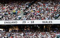 Photo: Richard Lane/Richard Lane Photography. England v Wales. RBS Six Nations. 09/03/2014. Final score, England 29-18 Wales to win the Triple Crown.