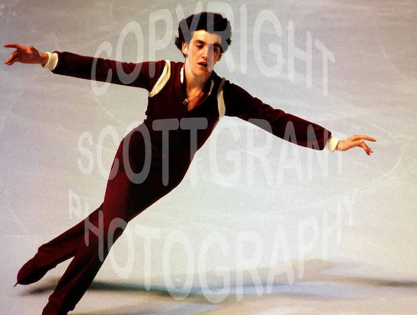 Brian Orser Canadian figure skater competes in 1980