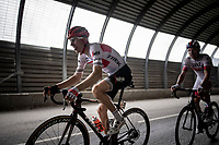Bauke Mollema  (NED/Trek-Segafredo) in a tunnel 2 km from the finish in Val thorens<br /> <br /> shortened stage 20: Albertville to Val Thorens (59km in stead of the original 130km due to landslides/bad weather)<br /> 106th Tour de France 2019 (2.UWT)<br /> <br /> ©kramon