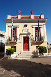 Neo Classical Town Hall of Ioulis (Chora) administrative centre  town of Kea, Greek Cyclades Islands.