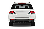 Straight rear view of 2018 Mercedes Benz GLE AMG-43 5 Door SUV Rear View  stock images