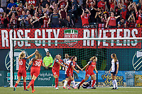 Portland, OR - Saturday July 22, 2017: Portland Thorns FC and fans celebrate Mallory Weber's goal during a regular season National Women's Soccer League (NWSL) match between the Portland Thorns FC and the Washington Spirit at Providence Park.