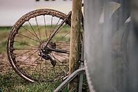 muddy wheels by Thibau Nys (BEL)<br /> <br /> Junior Men's Race<br /> Belgian National CX Championschips<br /> Kruibeke 2019