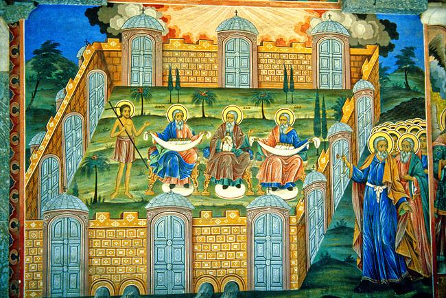 Fresco Detail, Rila Monastery<br /> Heaven