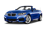 Stock pictures of low aggressive front three quarter view of 2017 BMW 2-Series M230i 2 Door Convertible Low Aggressive