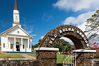 Entrance of Old Koloa Church on Kaua'i.