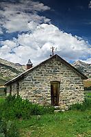 Ruby Valley Community Hall stone building. Ruby Lake National Wildlife Refuge, Nevada