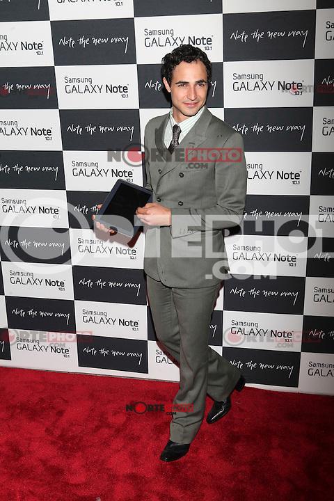 Zac Posen attends the Samsung Galaxy Note 10.1 Launch Event in New York City, August 15, 2012. ©Diego Corredor/MediaPunch Inc. /NortePhoto.com<br /> <br /> **CREDITO*OBLIGATORIO** *No*Venta*A*Terceros*<br /> *No*Sale*So*third* ***No*Se*Permite*Hacer*Archivo***No*Sale*So*third*