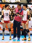 (L-R) Masayoshi Haruka Miyashita, Miyu Nagaoka (JPN),  AUGUST 26, 2015 - Volleyball : FIVB Women's World Cup 2015 1st Round between Japan 3-0 Kenya  in Tokyo, Japan. (Photo by Sho Tamura/AFLO SPORT)