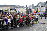 Crowds at the Team Presentation Ceremony before the 2012 Tour de France in front of The Palais Provincial, Place Saint-Lambert, Liege, Belgium. 28th June 2012.<br /> (Photo by Eoin Clarke/NEWSFILE)
