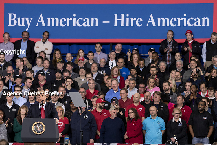 President Donald Trump delivers remarks at the American Center for Mobility, Ypsilanti, Michigan, Wednesday, March, 15, 2017. (Official White House Photo by Shealah Craighead)