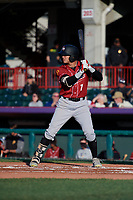 Altoona Curve Bligh Madris (7) at bat during an Eastern League game against the Erie SeaWolves on June 3, 2019 at UPMC Park in Erie, Pennsylvania.  Altoona defeated Erie 9-8.  (Mike Janes/Four Seam Images)