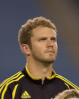 Columbus Crew goalkeeper Will Hesmer.  The Columbus Crew defeated the New England Revolution 3-2 at Gillette Stadium in Foxborough, MA on October 13, 2007.